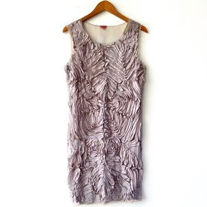 Chan Luu Handmade Taupe Silk Mesh Sheath Dress